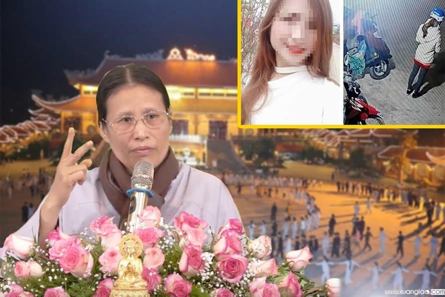 Ảnh chụp màn hình đoạn clip bà Yến giải thích nguyên nhân vụ thảm án.