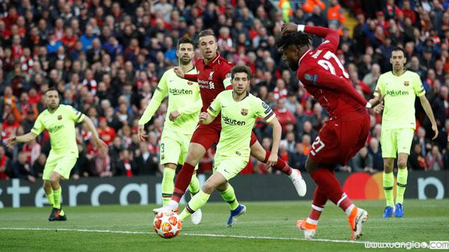Origi mở ra hy vọng từ rất sớm cho Liverpool với bàn thắng ở phút thứ 7