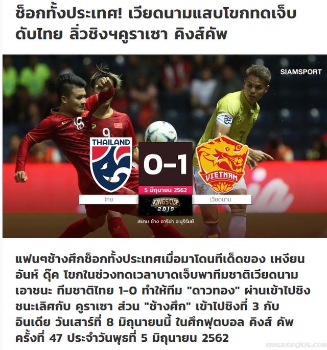 Tờ Siam Sports sốc nặng sau khi đội nhà thất bại trước đội tuyển Việt Nam