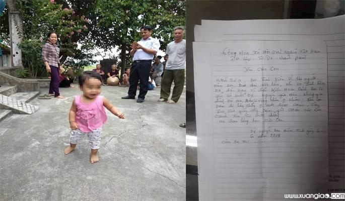 Bé gái và bức thư người mẹbỏlại chùa.