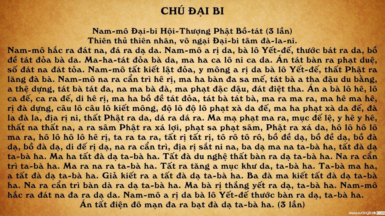 Chú Đại Bi tiếng Việt