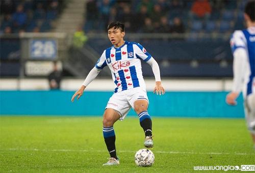 Văn Hậu sang Hà Lan hơn nửa năm, nhưng chỉ ra sân ở các trận thuộc cấp độ trẻ, Cup Quốc gia và giao hữu, chứ chưa được đá chính trận nào tại giải VĐQG Hà Lan. Ảnh:SCH.