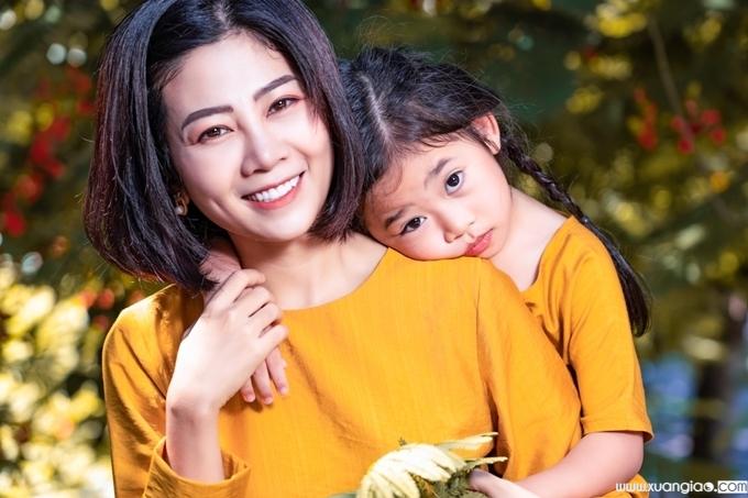 Mai Phương lúc sinh thời và con gái Lavie.