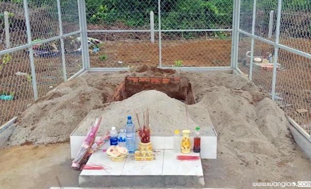Ngôi mộ mà đối tượng Minh dự kiến trộm thi thể nhưng bất thành