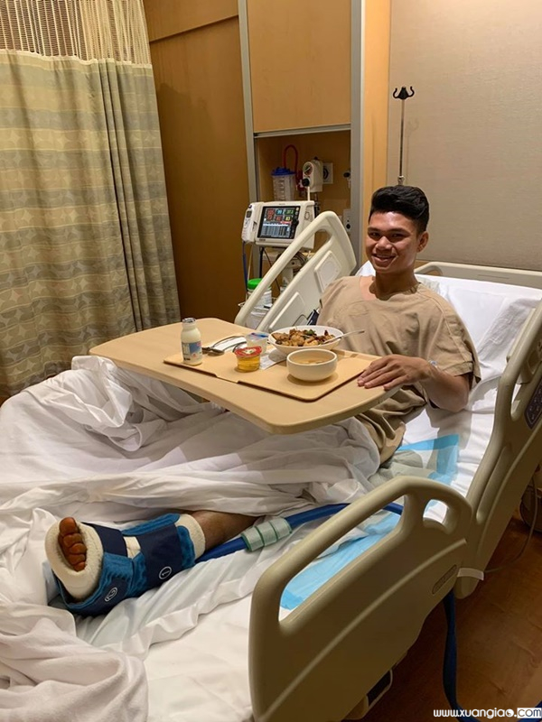 Dù đã sang Singapore phẫu thuật chấn thương