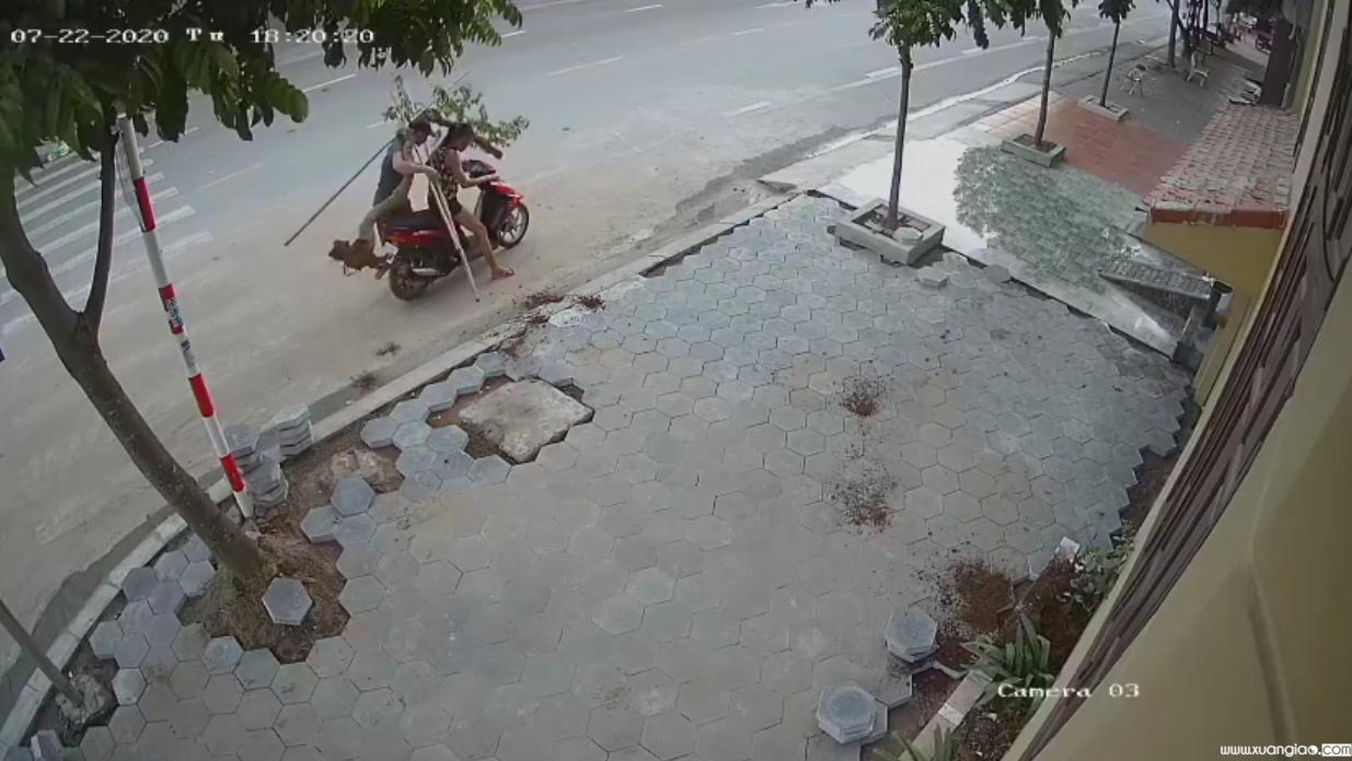 Hai kẻ trộm ngang nhiên vác cây giấy